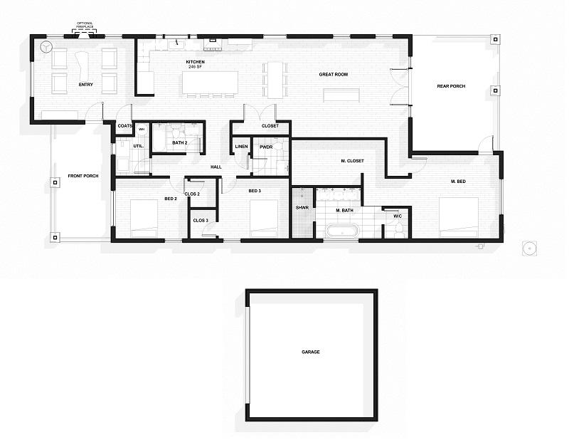Potential Floor Plan- Subject to Change